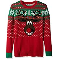 Christmas Ugly Sweater Co Mens SYP8-1801BAMZ Ugly Christmas Sweater - Poopermints 2 Pullover Sweater - red