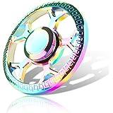 IVSO ハンドスピナー 指スピナー 人気の指遊び おもちゃ 無沙汰解消 ストレス解消 フォーカス玩具 独楽回し 子供大人に適用 ( 虹の色)