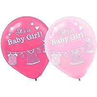 ベビーシャワー'シャワーwith Love ' Girl Latex Balloons ( 15ct )