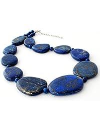 天然無着色 ラピスラズリ プレート ネックレス 鑑別書付き Lapisu Lazuli ペンダント