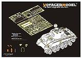 ボイジャーモデル 1/35 第二次世界大戦 アメリカ軍 M4A3シャーマン (105mm)HVSS エッチング基本セット DML6454用 プラモデル用パーツ PE35911