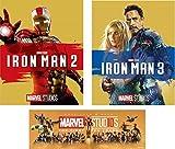 【早期購入特典あり】 アイアンマン2~3の2本セット  「アントマン&ワスプ」劇場公開記念 オリジナルステッカー付き [Blu-ray]
