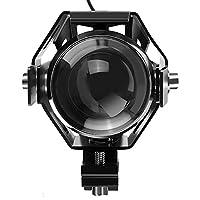AUDEW LED ヘッドライト バイク HI LO 防水 アルミヒートシンク 12V~80V ストロボライト ブラック