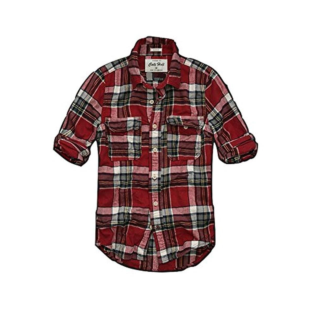 ベッドを作る盗難大混乱カリホリ(Cali Holi) ネルシャツ メンズ 長袖 大きいサイズ カジュアル チェック 秋 アメカジの王道