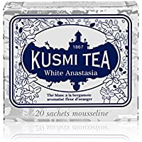 (KUSMI TEA) クスミティー ホワイト アナスタシア ティーバッグ (個別包装なし) 2g×20袋入り [正規輸入品]