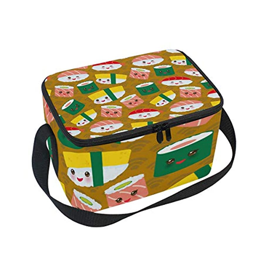 ジャベスウィルソン哲学的超音速クーラーバッグ クーラーボックス ソフトクーラ 冷蔵ボックス キャンプ用品 ライスボール柄 保冷保温 大容量 肩掛け お花見 アウトドア