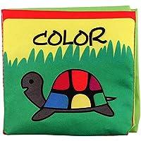赤ちゃんの最初柔らかい布本、漫画Word Crinkly動物パズル非毒性ファブリックブック、幼児早期教育おもちゃ 8025779307398