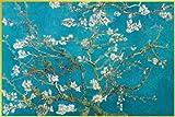 ポスター ゴッホ/花咲くアーモンドの枝+アルミフレーム(ゴールド)セット PAS-0014G