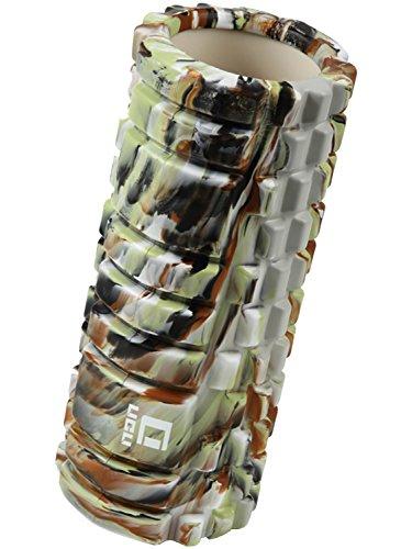 LICLI フォームローラー 筋膜リリース トリガーポイント グリッド ミニ ストレッチローラー 「 マッサージ トレーニング ストレッチ ローラー ハーフ ヨガポール 」「 肩こり 腰痛 」 説明書つき 7色 (迷彩)