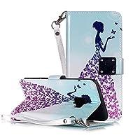 DELANSHI携帯電話 ギャラクシーS9ケースマジック3D明るい色の描画パターン水平フリップPUレザー耐震プロテクターカバー付きホルダー&カードスロット&財布&フォトフレームと互換性 バックシェル (パターン : Butterfly princess)