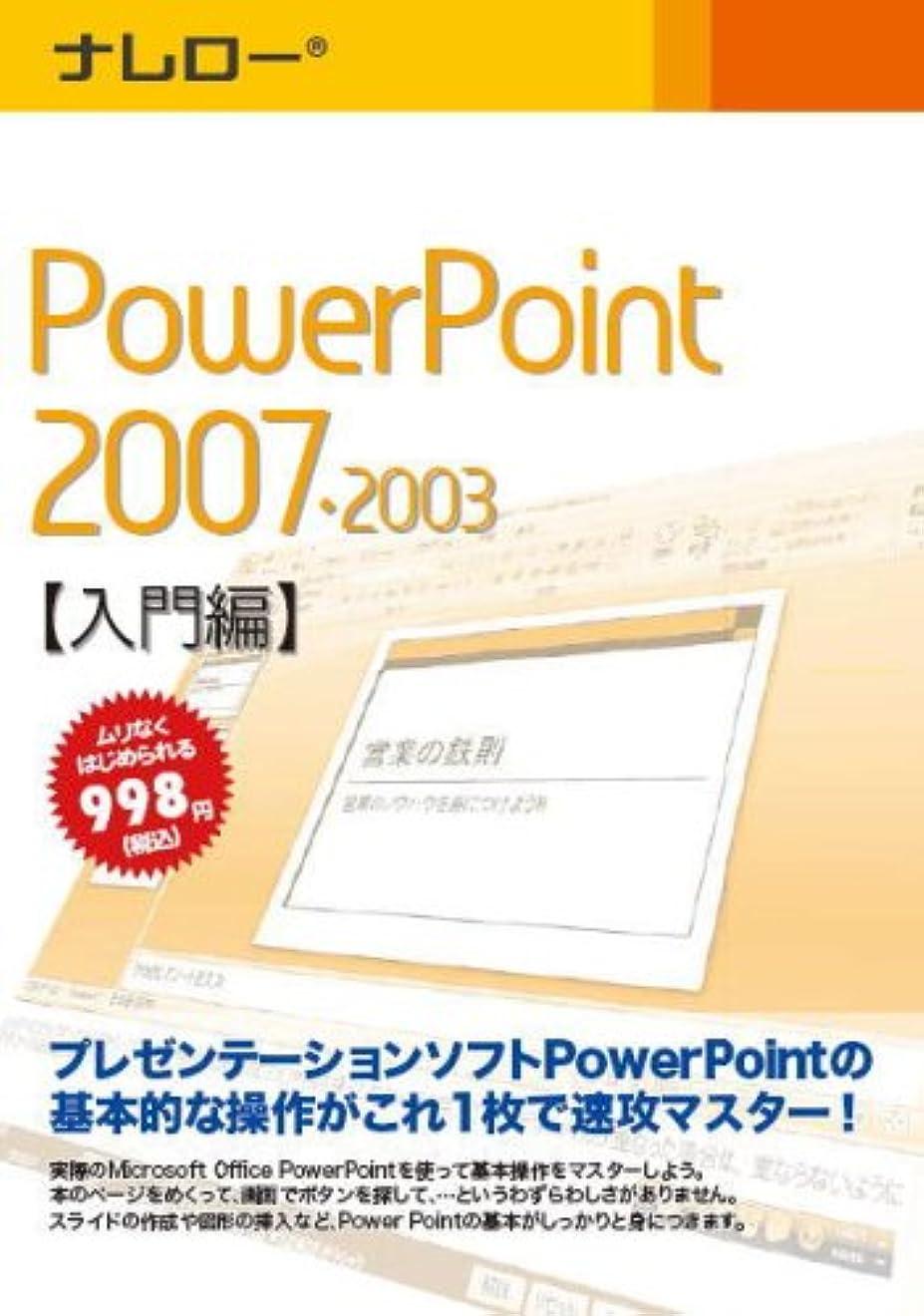 同意する費やす本部ナレロー PowerPoint 2007?2003 【入門編】