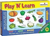 "CREATIVE EDUCATIONAL 0335 ""Play N Learn 木製野菜ゲーム"