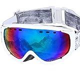 PONTAPES(ポンタペス) スノーボード ゴーグル 全6色 メンズ レディース ダブルレンズ Revo ミラーレンズ PNP-781 WHT/P_WHT/GRN スキーゴーグル スキー スノー用ゴーグル スノーゴーグル スノー ゴーグル スノボ スノボー スノーボードゴーグル ダブル レンズ ミラー レンズ