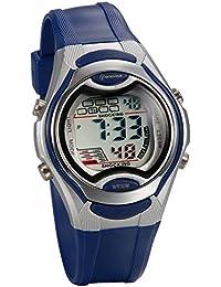 JewelryWe 可愛い 子供腕時計 スポーツウオッチ 多機能 LEDライト アラーム 防水(3ATM)ブルー
