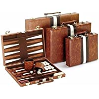 Classic Brown & White Backgammon Set [並行輸入品]