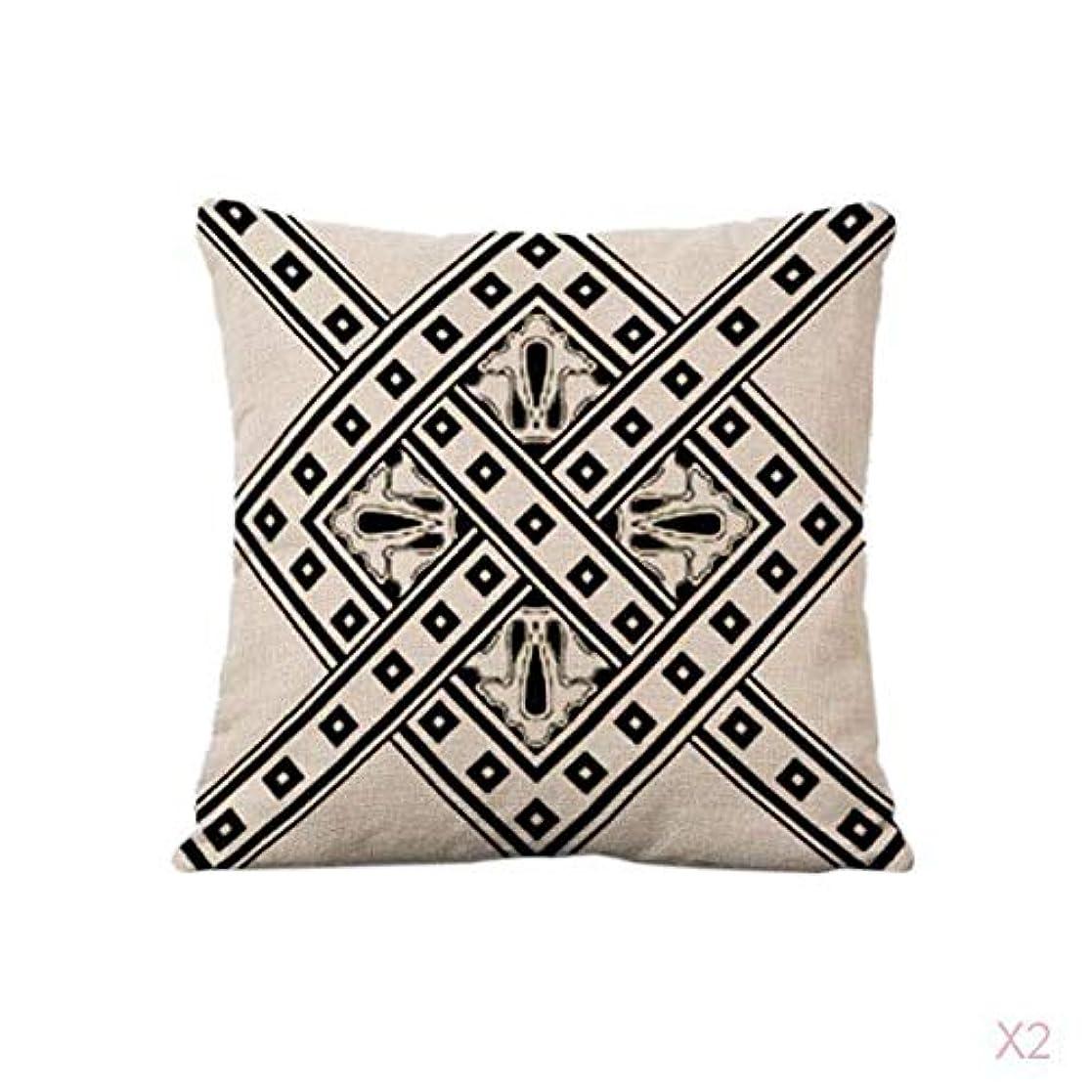羨望スノーケル反響するクッションカバー5色シンプルな幾何学模様のリネンソファー腰枕カバー
