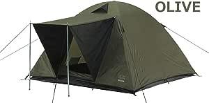 phoneix-m 602001 302015 3人用のスペースがあるクラシックドームテント (オリーブ)