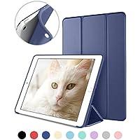 DTTO iPad Mini 1/2/3 ケース 超薄型 超軽量 TPU ソフト PUレザー スマートカバー 三つ折り スタンド スマートキーボード対応 キズ防止 指紋防止 [オート スリープ/スリー プ解除] ネイビーブルー