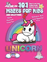 101 Mazes For Kids 2: SUPER KIDZ Book. Children - Ages 4-8 (US Edition). Cartoon Rainbow Baby Unicorn, Pink w custom art interior. 101 Puzzles w solutions - Easy to Very Hard learning levels -Unique challenges and ultimate mazes book for fun activity time (Superkidz - Unicorn 101 Mazes for Kids)