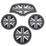 SKYBELL(スカイベル) BMW MINI 用 ドリンク ホルダー コースター ミニクーパー 【4枚セット】 (ブラックジャック)