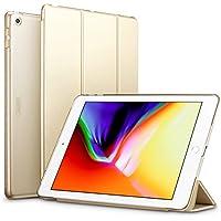ESR 新しい iPad 9.7 2018/2017 ケース 超軽量 極薄 レザー 三つ折スタンド オートスリープ機能 スマートカバー 全10色 2017年と2018年発売の 新しい9.7インチ iPad 対応(モデル番号A1822、A1823、A1893、A1954)(ゴールド)