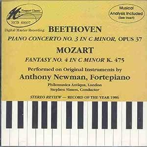 Beethoven : Piano Concerto No. 3 in C Minor / Mozart : Fantasy No. 4 in C Minor K.475