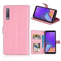 Galaxy A7 2018 スマホ ケース Galaxy A7 2018 ケース 横開 Luckyandery 手帳型 ウォレット ケース フリップ ケース カバー with スタンド Function & Credit Card Slots for Samsung Galaxy A7 2018 Pink