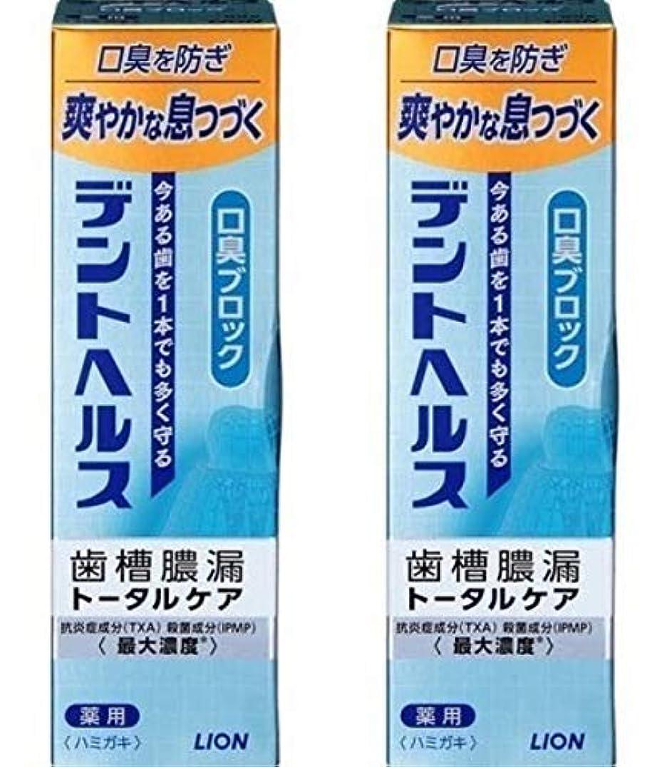 枯渇する振動させる肌寒い歯槽膿漏予防に デントヘルス 薬用ハミガキ 口臭ブロック 85g 【2個セット】