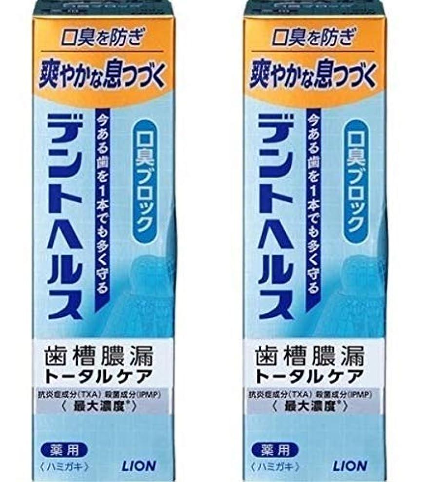 進捗ケント対応歯槽膿漏予防に デントヘルス 薬用ハミガキ 口臭ブロック 85g 【2個セット】