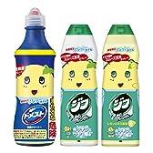 ふなっしーボトル 3種セット (ドメスト 除菌クリーナー 500ml+ジフ クリームクレンザー 270ml+ジフ レモン クリームクレンザー 270ml)