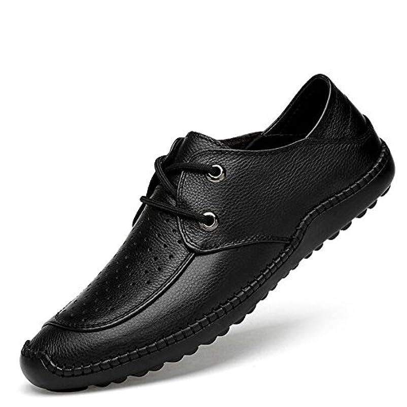 ピーク目に見える最近アノミセ メンズ 牛革 ドライビングシューズ スリッポンシューズ モカシン カジュアル ローファー ビジネス オフィス メッシュ 革靴 軽量 通気