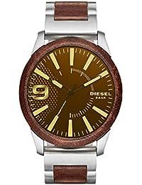 ディーゼル 腕時計 メンズ DZ1799 Rasp ステンレススチール & ブラウンレザー ウォッチ