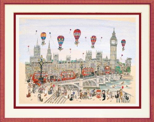 ダイアン エルソン ジグレー版画 ザ・キャッツ・オン・ウエストミンスター・ブリッジ・ロンドン 80-0010