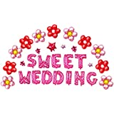 Funpa 風船 バルーン ウェディング 結婚式 宴会 会場デコレーション 豪華セット 全4タイプ ロマンチック アルミ箔