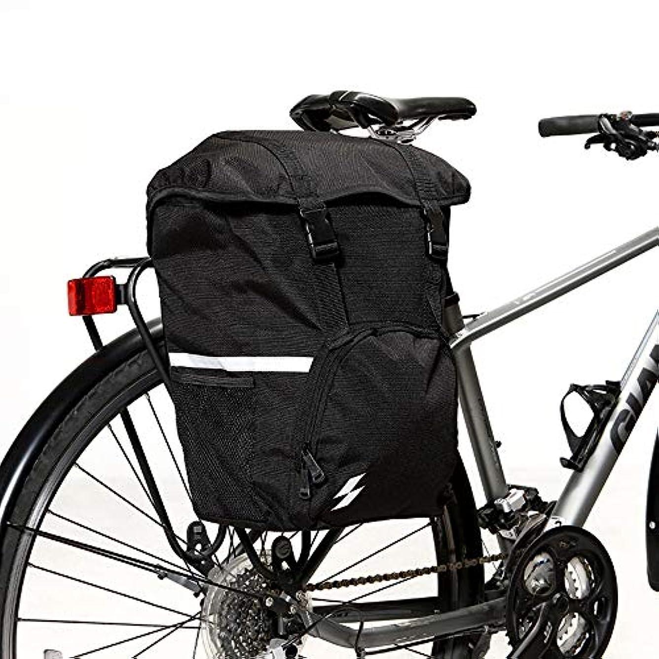 しなやか群衆警告する自転車フレームバッグ バイクリアシートバッグ、屋外バイク自転車サイクリングMTBリアパネルパニエショルダーバッグリアシートトランクサドルシングルサイドバッグ 防水電話ホルダー