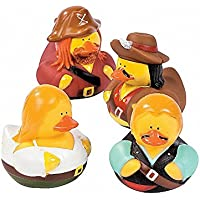 12 x Swashbuckling Pirate Rubber Duckies