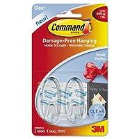コマンド–クリアフック&ストリップ、プラスチック、スモール、2フック4ストリップ/パック17092CLR ( DMI PK