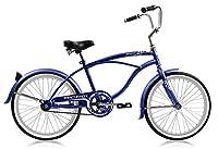 Micargi Jetta Boy's Blue Beach Cruiser Bike Bicycle, 20 Wheel by Micargi