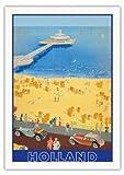 オランダ - スヘフェニンゲン桟橋 - ハーグ、オランダ - ビンテージな世界旅行のポスター によって作成された E. G. c.1950s - 美しいポスターアート