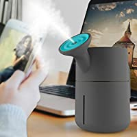 Fashionwu ミニ加湿器 USB充電 じょうろ型 200ml容量 卓上 超音波式 小型 省エネ 自動停止 静音 空焚き防止 携帯便利