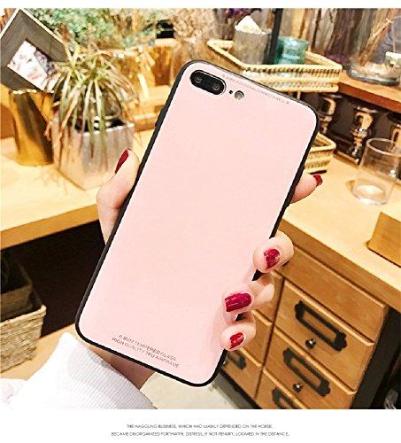 シンプル高級感溢れる耐衝撃強化ガラス製iPhone8 ケース...