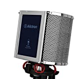 Alctron Studio Microphone Acoustic Panel Soundproof Filter Foam Shield Soundproofing PF8PRO,Vocal Desktop Desk Recording- Stand Mount,portable recording studio in anywhere [並行輸入品]