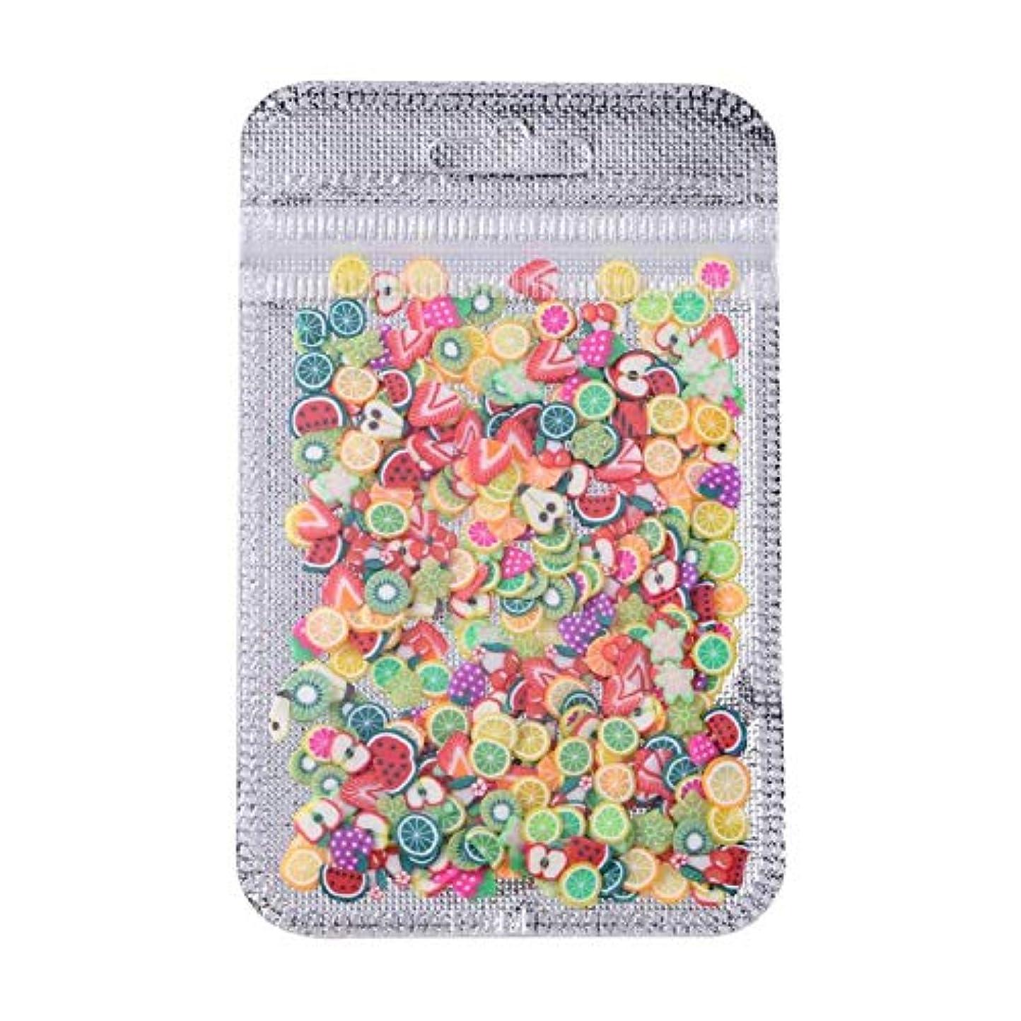 学習生活ヘビーネイルヒントインテリアネイルアートポリマー粘土装飾ヒントサロンデカールパッチ,Fruit
