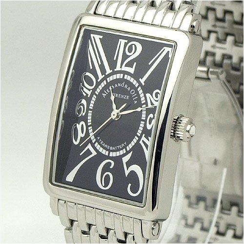 [アレサンドラオーラ]Alessandra Olla 腕時計 カーブガラス AO-1990-2 メンズ