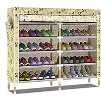 靴箱_6層-30ダブルソリッドウッドの靴のキャビネット、多層の簡単な防塵ストレージラック(複数の選択肢)