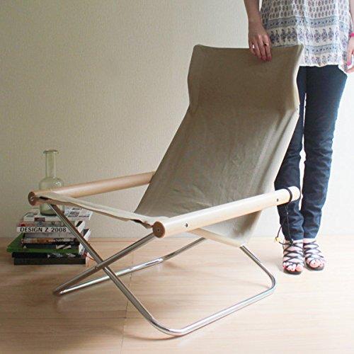 RoomClip商品情報 - 【正規ライセンス】Ny chair X 「ニーチェア エックス」ベージュ                  【デザイナー:新居猛】【MOMA】【折り畳み】【ラウンジチェア】【読書】【アームチェア】