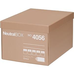 キングジム 収納箱 ニュ-トラルボックス M ベージュ 4056ヘー