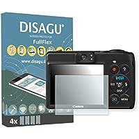 4 x Disagu FullFlex Canon PowerShot A1400対応 汚れ防止画面プロテクター(ディスプレイの曲面にもきれいにフィットします)