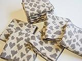 お洒落な豹柄【Amazon限定】今治生産 ヒョウ柄ジャガード ハンカチタオル 25×25センチ 10枚セット