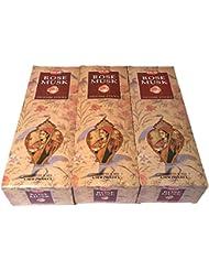 ローズムスク香スティック 3BOX(18箱) /HEM ROSE MUSK/インセンス/インド香 お香 [並行輸入品]